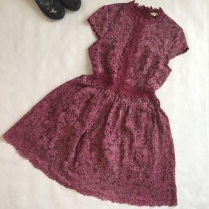 Altar'd State Oakvale Rose Lace Dress M
